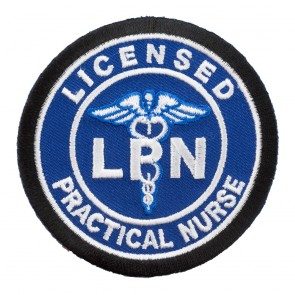 Embroidered Licensed Practical Nurse LPN Blue Patch