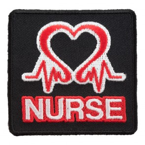 Embroidered Nurse Pulsating Heart Patch