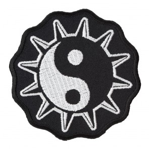 Black & White Cosmic Yin-Yang Star Patch