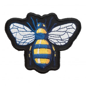 Blue Orchard Mason Bee Sew On Patch