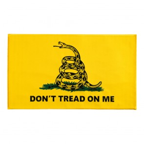 Yellow Don't Tread On Me Gadsden Flag Sew On & Iron On Patch