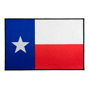 Fully Embroidered XL Texas State Flag Black Border Patch