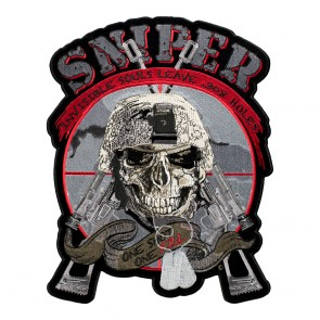 LG Embroidered Sniper One Shot One Kill Crosshairs Patch