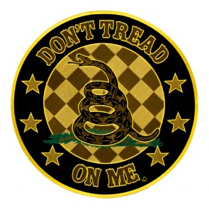 Round Don't Tread On Me Round Gadsden Snake Patch