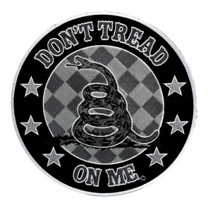 Embroidered Don't Tread On Me Subdued Gadsden Snake Patch