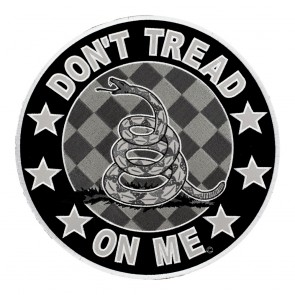 Reflective XL Don't Tread On Me Gadsden Snake Round Patch