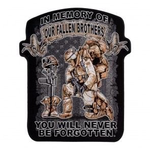 In Memory Of Our Fallen Brothers You Will Never Be Forgotten Sew On Patch