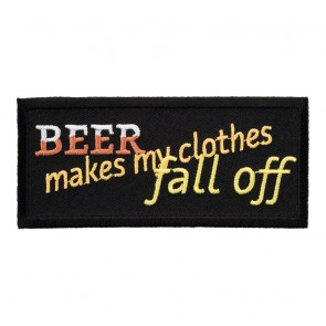 Iron On Beer Makes My Clothes Fall Off Patch