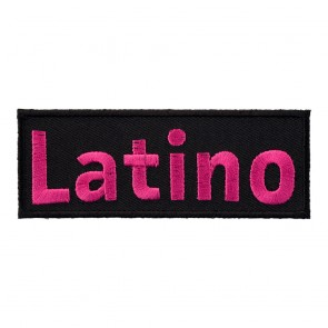 Embroidered Latino Pink & Black Patch