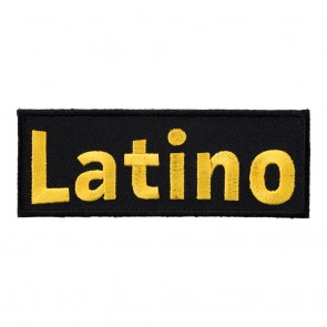 Embroidered Latino Yellow & Black Patch