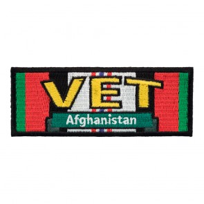 Afghanistan Vet Service Ribbon Sew On Patch