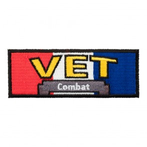 Combat Veteran RWB Embroidered Military Patch