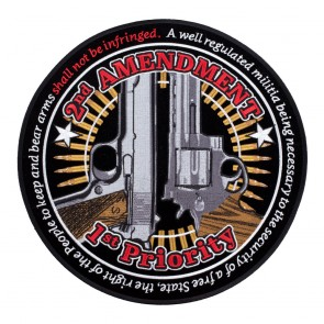 2nd Amendment 1st Priority Large Back Patch