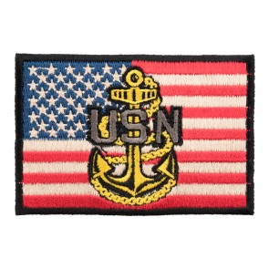 American US Navy Anchor Embroidered Flag Patch