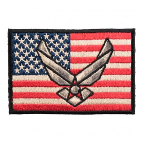Distressed American Flag US Air Force Wings Patch