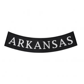 Arkansas State Bottom Rocker Heat Seal Patch