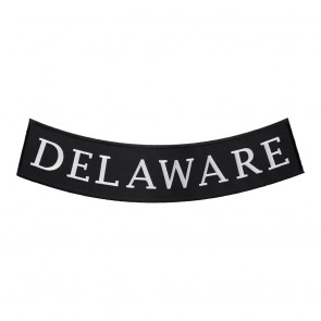 Embroidered Delaware State Bottom Rocker Patch