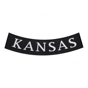 Kansas State Embroiudered Bottom Rocker Patch