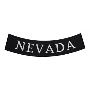 Embroidered Nevada State Bottom Rocker Patch