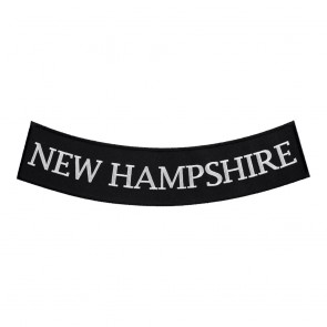 New Hampshire State Sew On Bottom Rocker Patch
