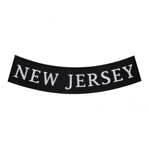 New Jersey State Arched Bottom Rocker Patch