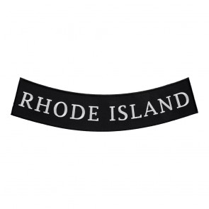 Arched Rhode Island State Bottom Rocker Patch