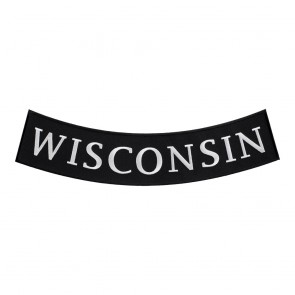 Wisconsin State Curved Bottom Rocker Patch
