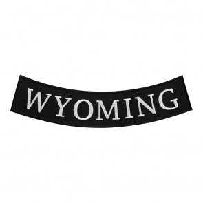 Black & White Wyoming State Bottom Rocker Patch