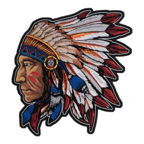 Embroidered Native American Chief Headdress Patch