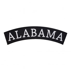 Embroidered Alabama State Top Rocker Patch