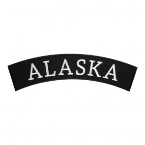 Embroidered Alaska State Top Rocker Patch