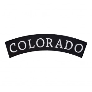 Iron On Colorado State Top Rocker Patch
