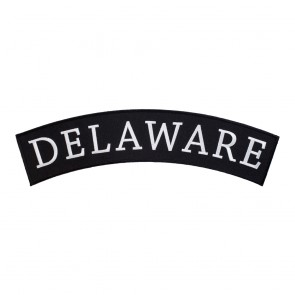Iron On Delaware State Top Rocker Patch