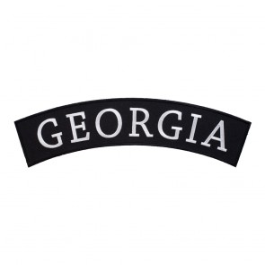 Sew On Georgia State Top Rocker Patch