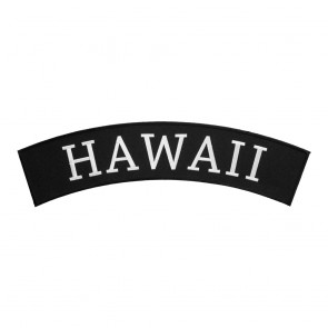 Black & White Hawaii State Top Rocker Patch