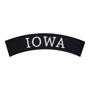 Embroidered Iowa State Top Rocker Patch
