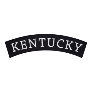 Black & White Kentucky State Top Rocker Patch
