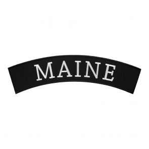 Iron On Maine State Top Rocker Patch