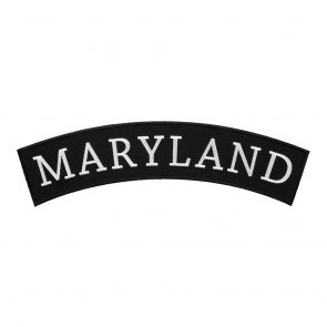 Embroidered Maryland State Top Rocker Patch