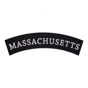 Embroidered Massachusetts State Top Rocker Patch