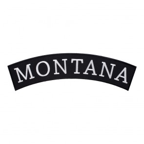 Embroidered Montana State Top Rocker Patch