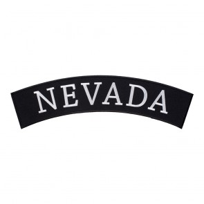 Embroidered Nevada State Top Rocker Patch
