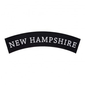 Black & White New Hampshire State Top Rocker Patch