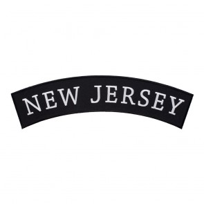 Sew On New Jersey State Top Rocker Patch