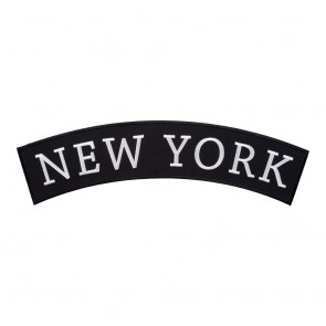 Embroidered New York State Top Rocker Patch