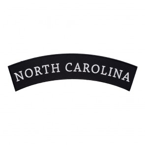 Embroidered North Carolina State Top Rocker Patch