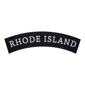 Sew On Rhode Island State Top Rocker Patch