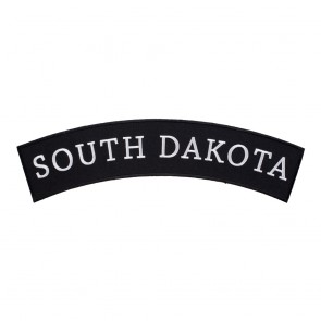 South Dakota State Top Rocker PatchWith Heat Seal