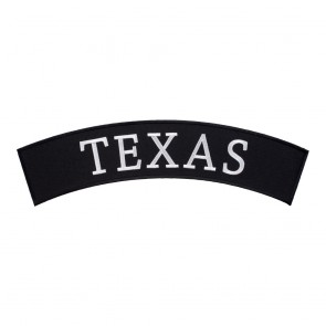Embroidered Texas State Top Rocker Patch