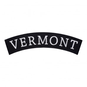 Vermont State Top Rocker Patch With Heat Seal